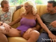 Blonde Milf Gets Fucked By Two Horny Guys