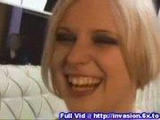 Blonde public fingering