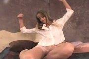 Ashton gray pantyhose strip tease