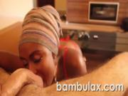 Real african ebony teen blowjob cum in mouth