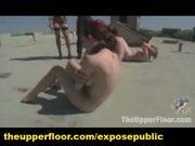 Four slaves maledom and lesdom bdsm training live