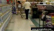 Voyeur pulls womans skirt