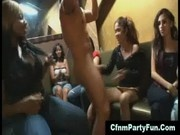 Cfnm babes suck strippers