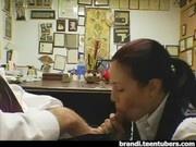 Boss gets blowjob from New Secretary