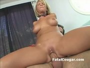 Shorthair blonde rides dick and craves for anal fuck