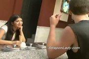Mia uses her dildo on her boyfriend
