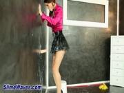 Slime drenched wam gloryhole babe