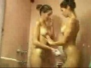 Taylor and Jade twin sisters shower lesbian sex