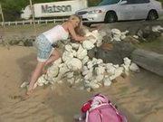 Alison angel - cute beach play