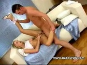 Blond slut puppy boned