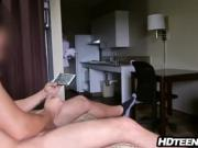 Hotel Maid gets fucked by guests