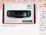 Melissinha na webcam