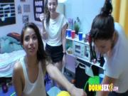 Naughty college Latina that was all about the dorm games 0051