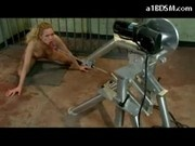 Blonde Girl Tied To Bats Electric Vibrator In Her Pussy Getting Mouth Strapon Mistress Riding On Her