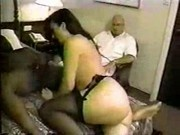 Cuckold pays for diner and hotel and watches his wife get used