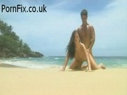 Hot babe Jessica gets fucked on the beach