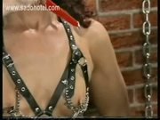 Milf slave got hot candlewax over her nice tits and her wet