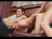 Mfm blonde tina bound and forced over mate in chateau