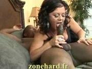 Milf brunette and black cock