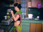 Indian Housewife Tempted Boy Neighbour uncle in Kitchen Low