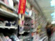 Nice ass girl in a supermarket hidden cam
