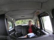 Hungarian hottie fucks in uk cab