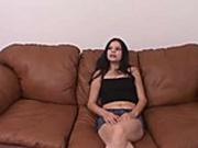Mature brunette sucks and fucks