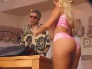 Gorgeous blond with tight ass gets double penet...