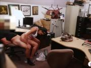 Latina pounded by pervert pawn keeper in the backroom