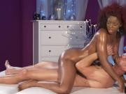 Big ass ebony Jasmine Webb massaged and fucked
