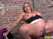 Milf Amber Lynn Bach Riding Black Cock In Prison