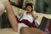 Excited Chick Teases Hard-On
