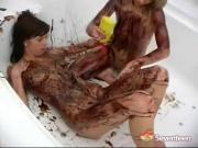 Lesbian chocolate fun