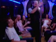Hot bus striptease and hardcore orgy inside the reality show