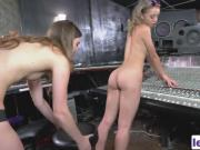 Aurora Belle and Tali Dova fully using their studio time with a strapon