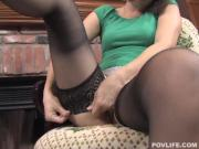 Heavenly Girl Wearing Hosiery Shows Off Sexy Body And BJ Skills