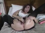 Horny Cougar Pleasures Vagina Then Blows And Screws Dick