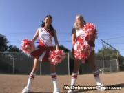 Ashley and Stephanie Learn The Secret Cheer