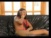 Ebony Babe Takes Two White Dicks At The Same Time!