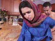 Pretty Arab teen Ada gives head and gets ripped hard