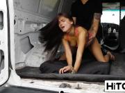 Gorgeous 18yo latina Michelle Martinez quickly regrets entering stranger's van