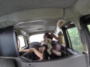 Delightful ebony slut with amazing body got her pussy slammed hard in a cab