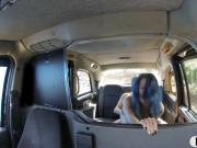 Nasty couple having sex in the backseat for a free fare