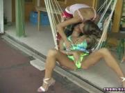 2 Sexy Lesbos Suck Each Other's Twats