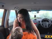 Driving instructor bangs Jasmine Jae in car