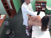 Brunette enjoyed fucking hot doctor