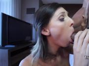 Tgirl enjoyed black cock in her ass