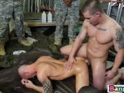 Guys at the military have organized a group anal banging session after a long day