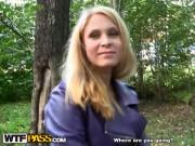 Pale-Skinned Babe Nailed Doggy-Style By Dick Outdoor