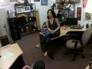 Latina babe pawns her pussy and banged by pawn guy